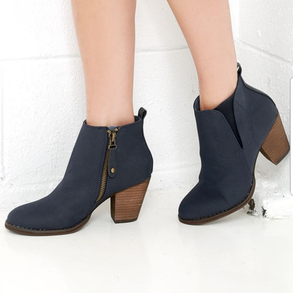 Chelsea Crew Shoes Today Halo Navy Blue Ankle Boots 37 Poshmark